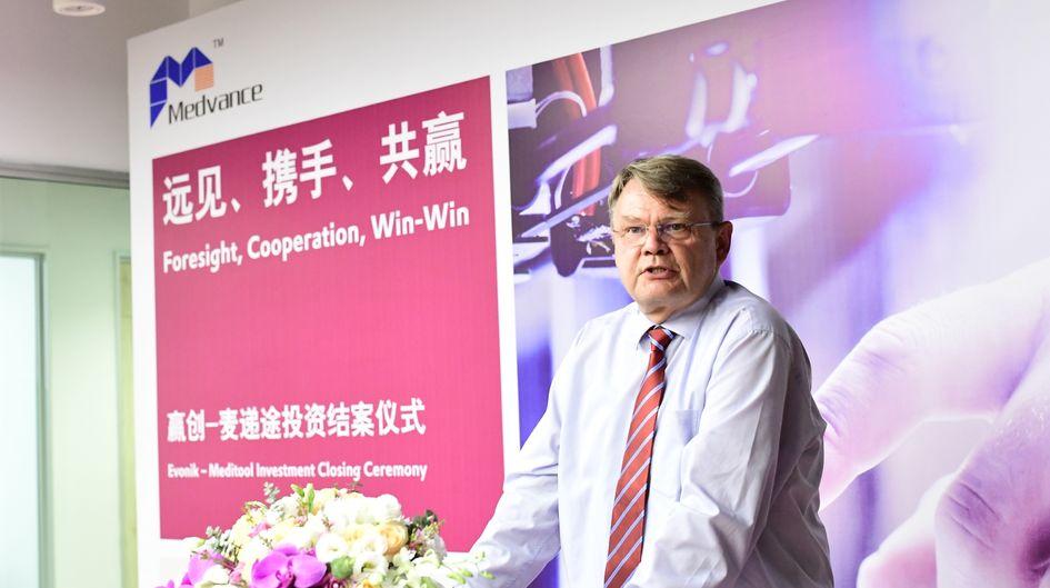 Dr. Claas Klasen, President Evonik Asia North region.
