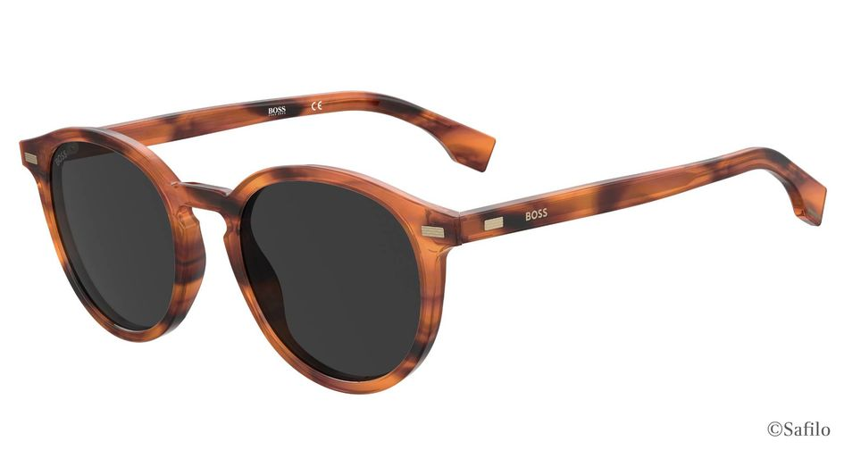 Safilo will introduce lenses made from the sustainable high-performance polyamide TROGAMID® myCX eCO with the BOSS Spring Summer 22 collection in January 2022. ©Safilo