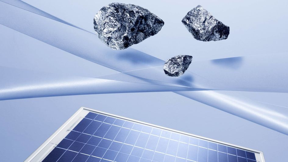 Silicon is an important raw material for photovoltaics. Source: A. Schwander/Evonik