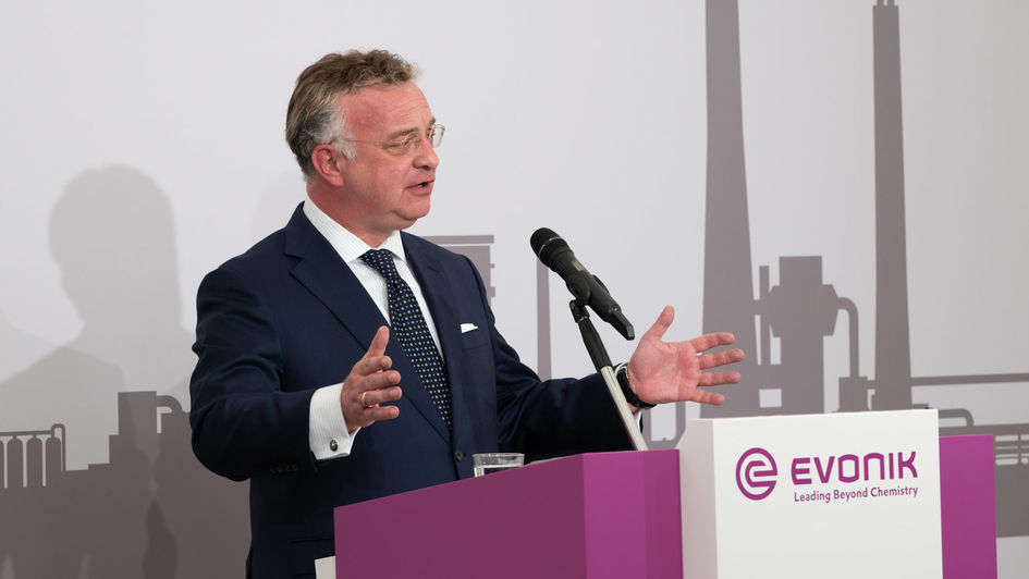 Christian Kullmann, Chairman of the Executive Board of Evonik Industries AG