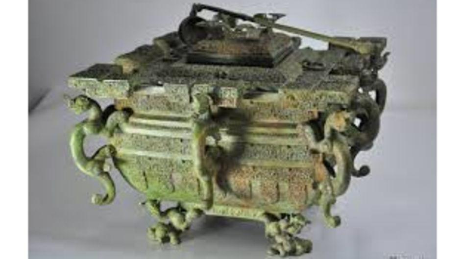 戰國銅冰鑒,戰國時期歷史文物,出土於1978年湖北隨縣曾侯乙之墓