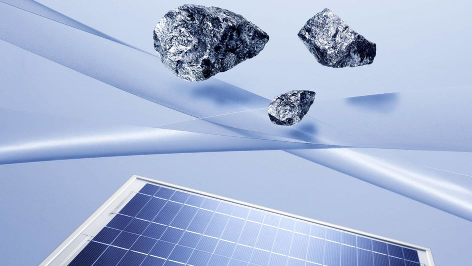 矽是太陽能的重要原材料。(圖片來源:A. Schwander/贏創)